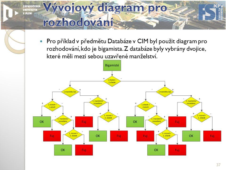 Pro příklad v předmětu Databáze v CIM byl použit diagram pro rozhodování, kdo je bigamista.