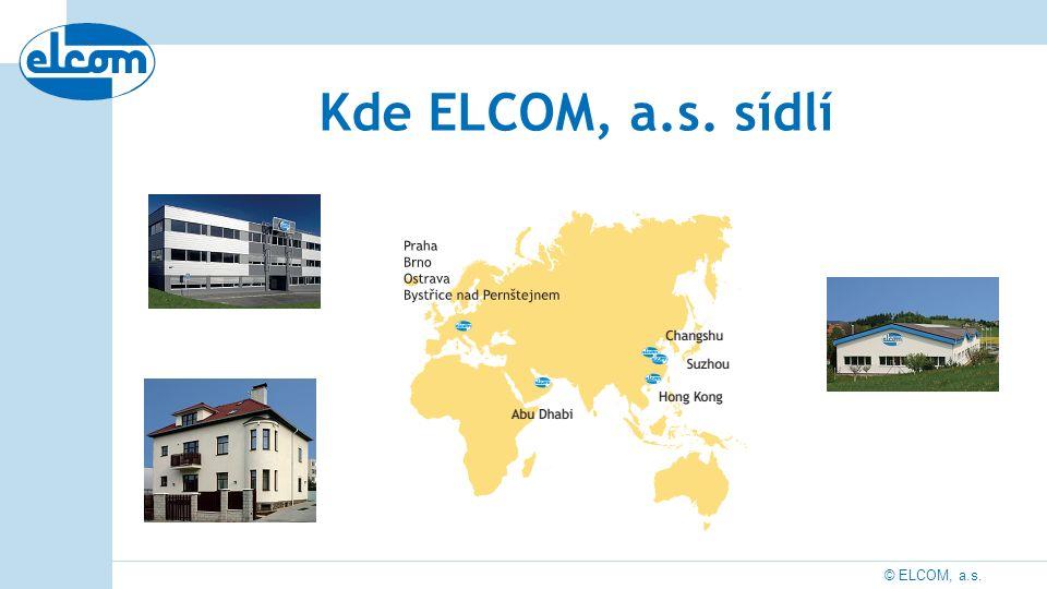 © ELCOM, a.s. Kde ELCOM, a.s. sídlí