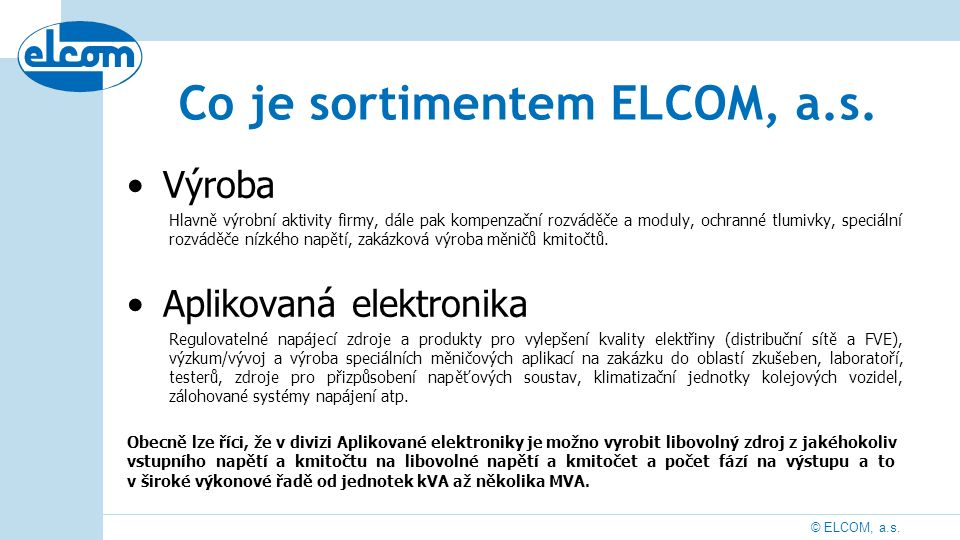 © ELCOM, a.s.