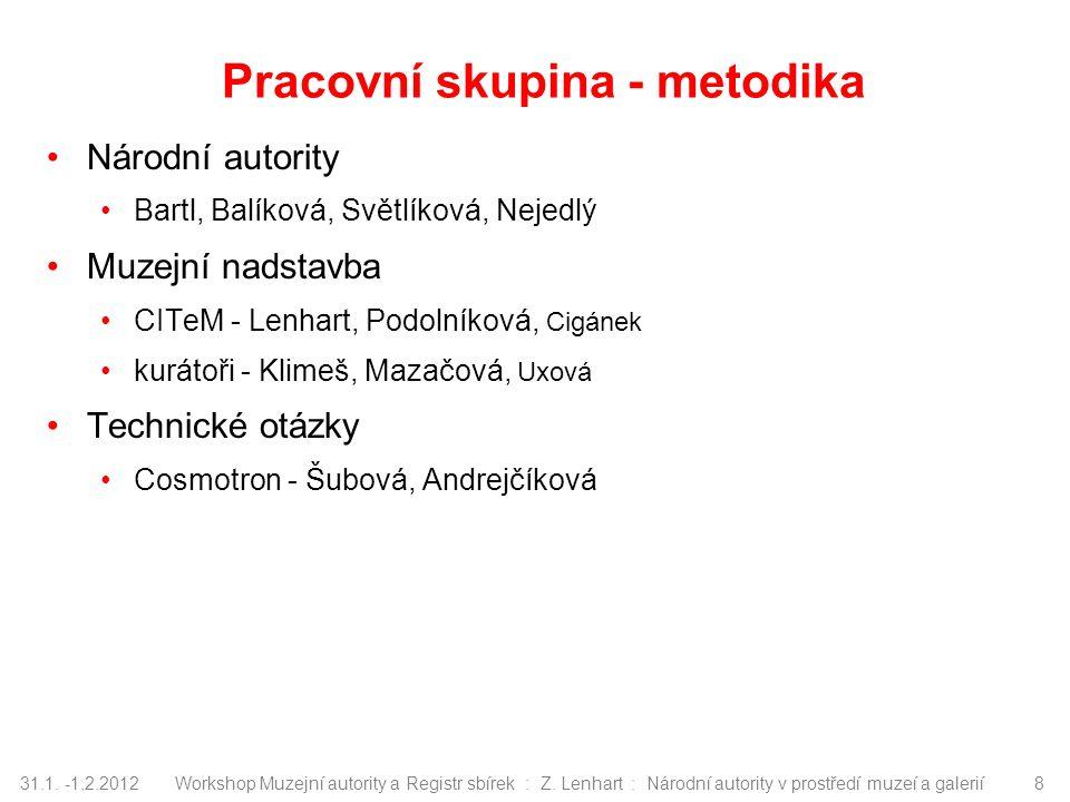 31.1.-1.2.2012Workshop Muzejní autority a Registr sbírek : Z.