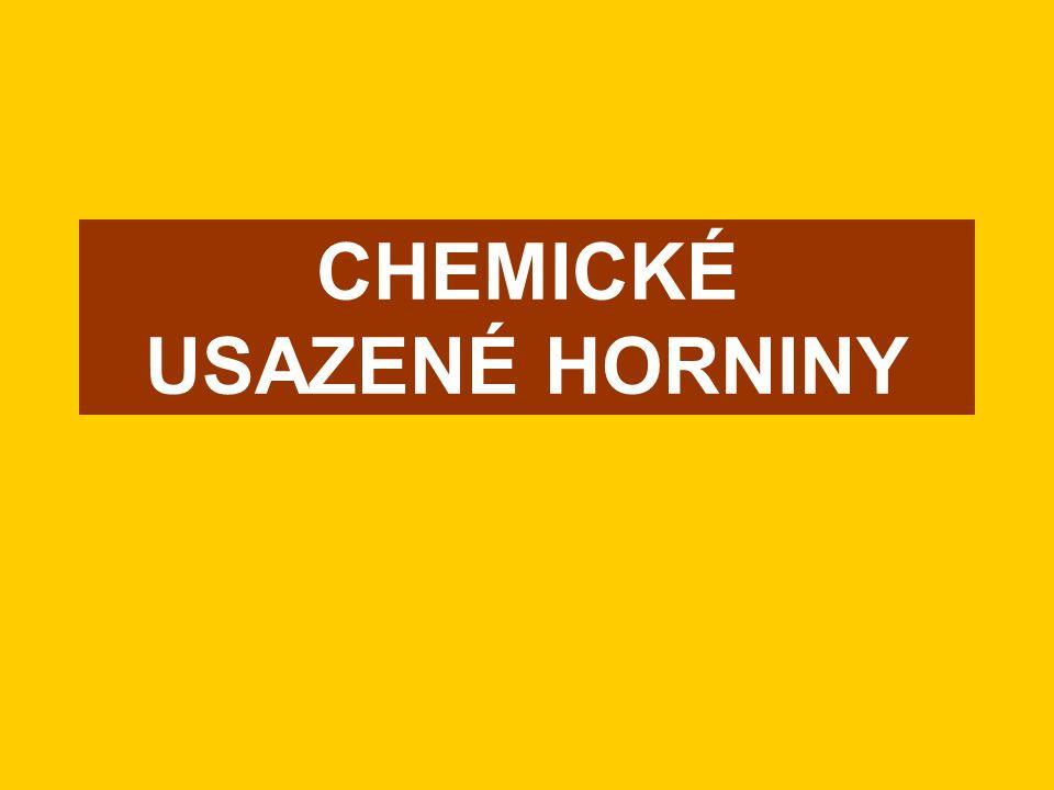 CHEMICKÉ USAZENÉ HORNINY