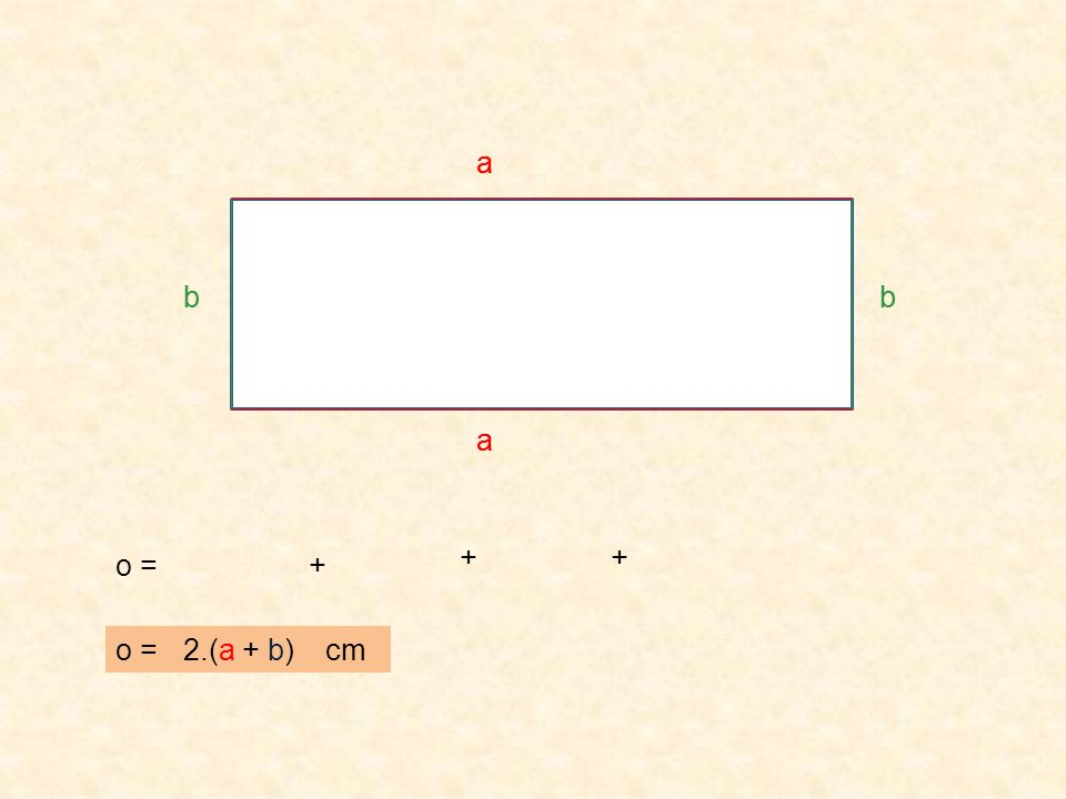 Vypočítej obvod obdélníku : a b o = 2. ( a + b ) o = 2. =6 cm = 4 cm ( 6 + 4 ) o = 20 cm