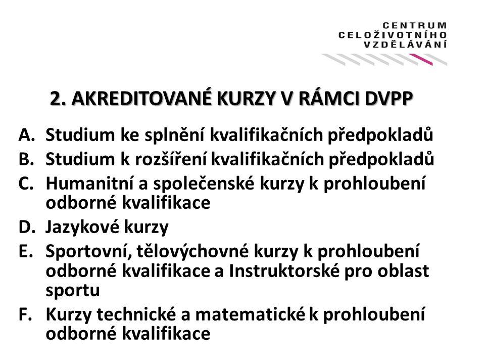 2. AKREDITOVANÉKURZY V RÁMCI DVPP 2.