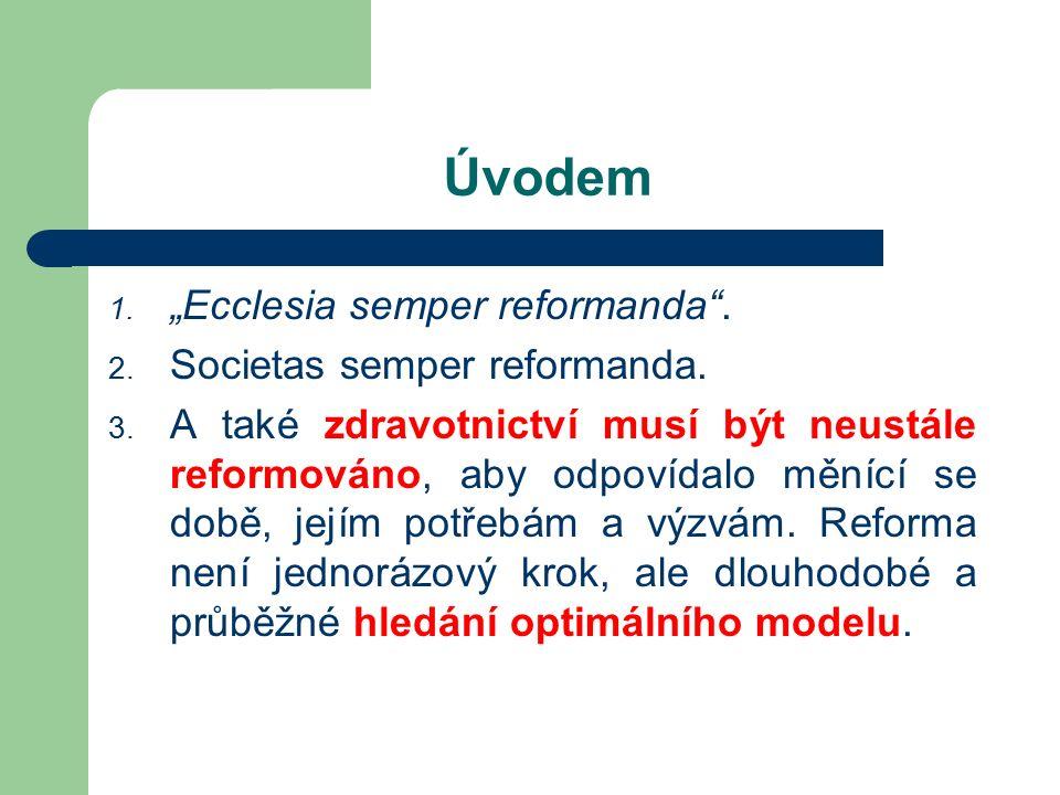 """Úvodem 1. """"Ecclesia semper reformanda . 2. Societas semper reformanda."""