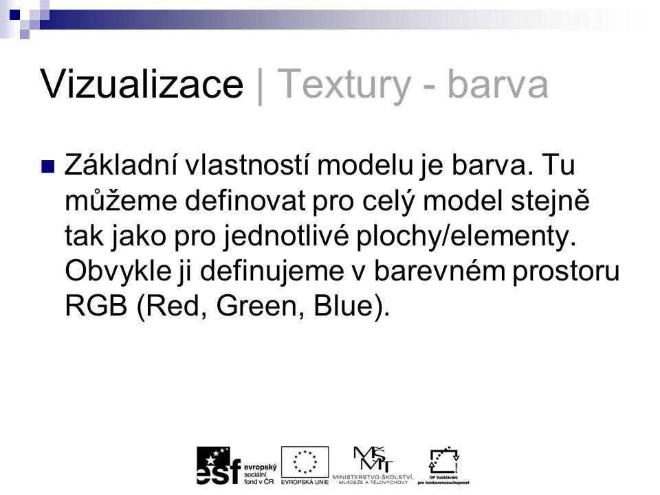 Vizualizace | Textury - barva Základní vlastností modelu je barva.