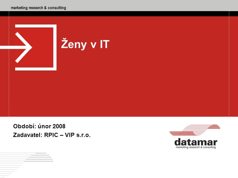 """marketing research & consulting DATAMAR - marketing research & consulting, RPIC – VIP s.r.o., Ženy v IT, 02/2008 42 Q4 """"Plánujete po ukončení rekvalifikačního kurzu spíše nástup do zaměstnání nebo další studium."""