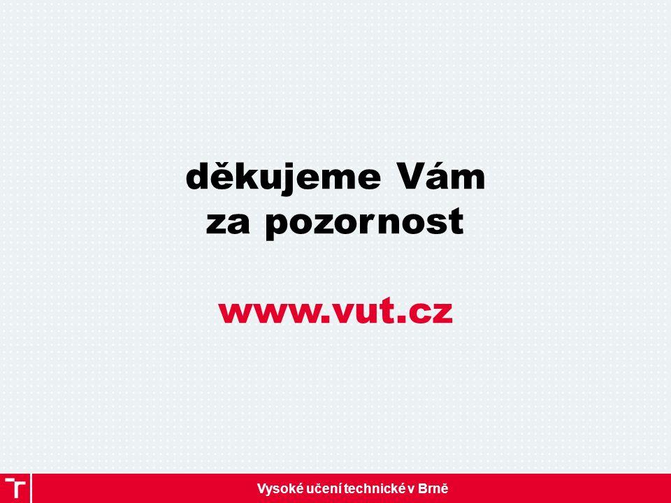 Vysoké učení technické v Brně děkujeme Vám za pozornost www.vut.cz