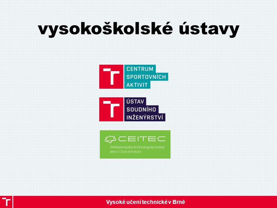 Vysoké učení technické v Brně vysokoškolské ústavy
