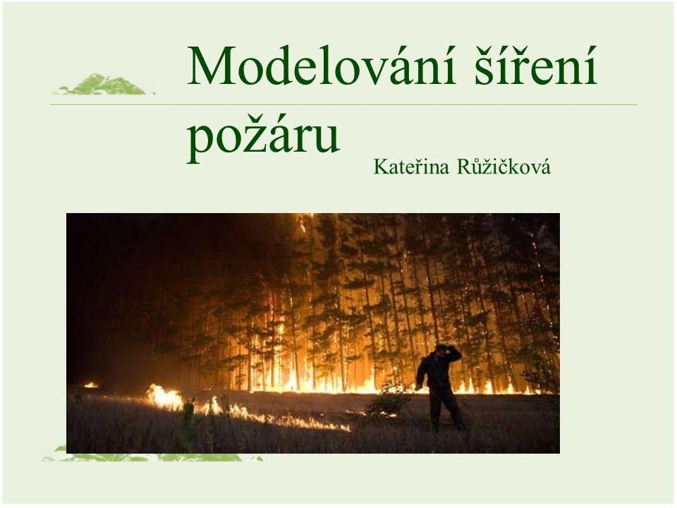 Modelování šíření požáru Kateřina Růžičková