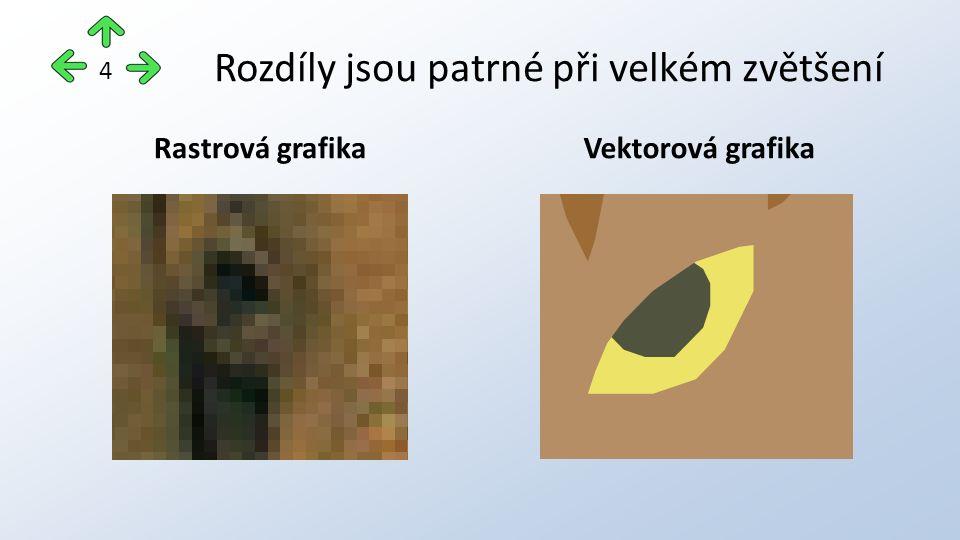 Rozdíly jsou patrné při velkém zvětšení Rastrová grafikaVektorová grafika 4