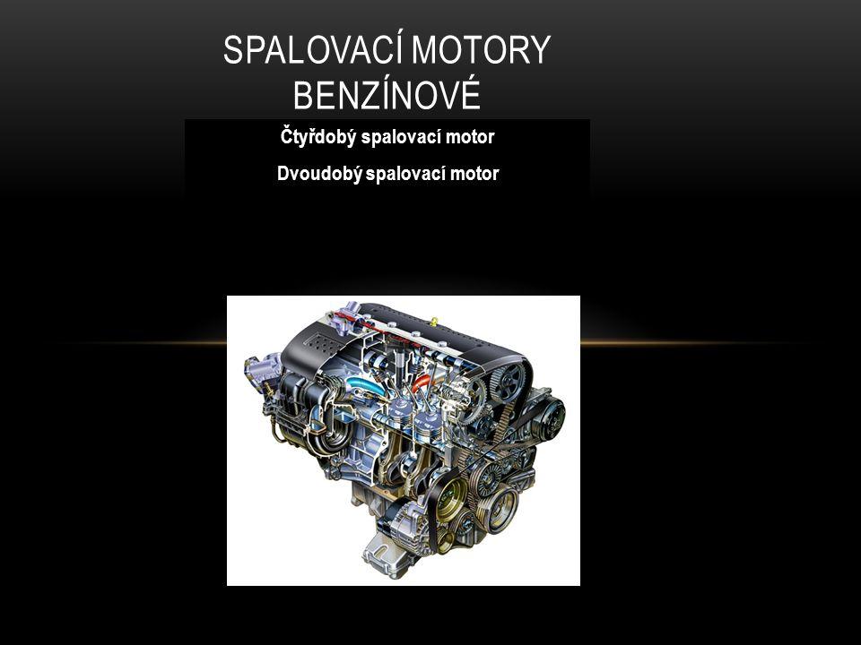 ČTYŘDOBÝ SPALOVACÍ MOTOR První čtyřdobý spalovací motor, který využíval benzín, sestrojil v roce 1876 německý inženýr Nicolaus Otto.