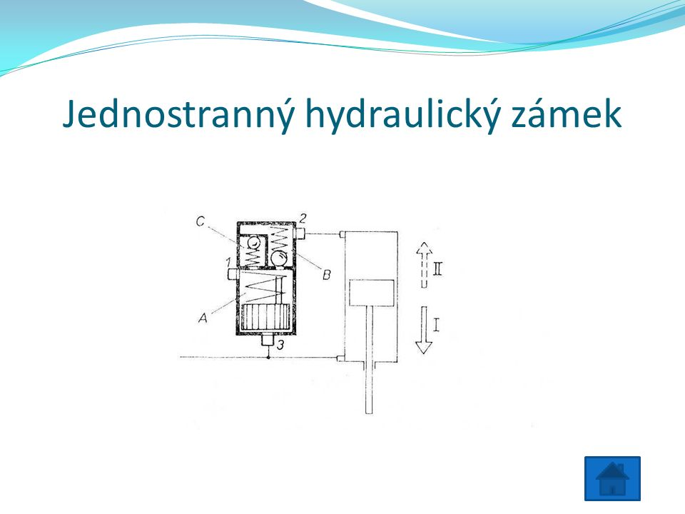 Jednostranný hydraulický zámek