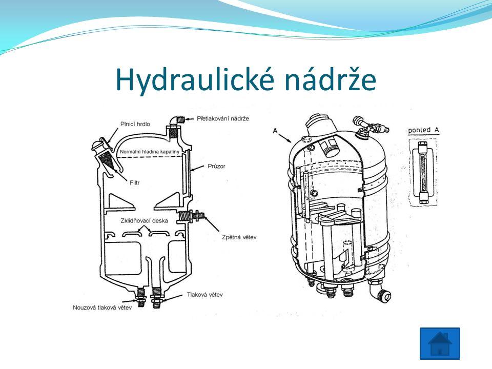 Hydraulické nádrže
