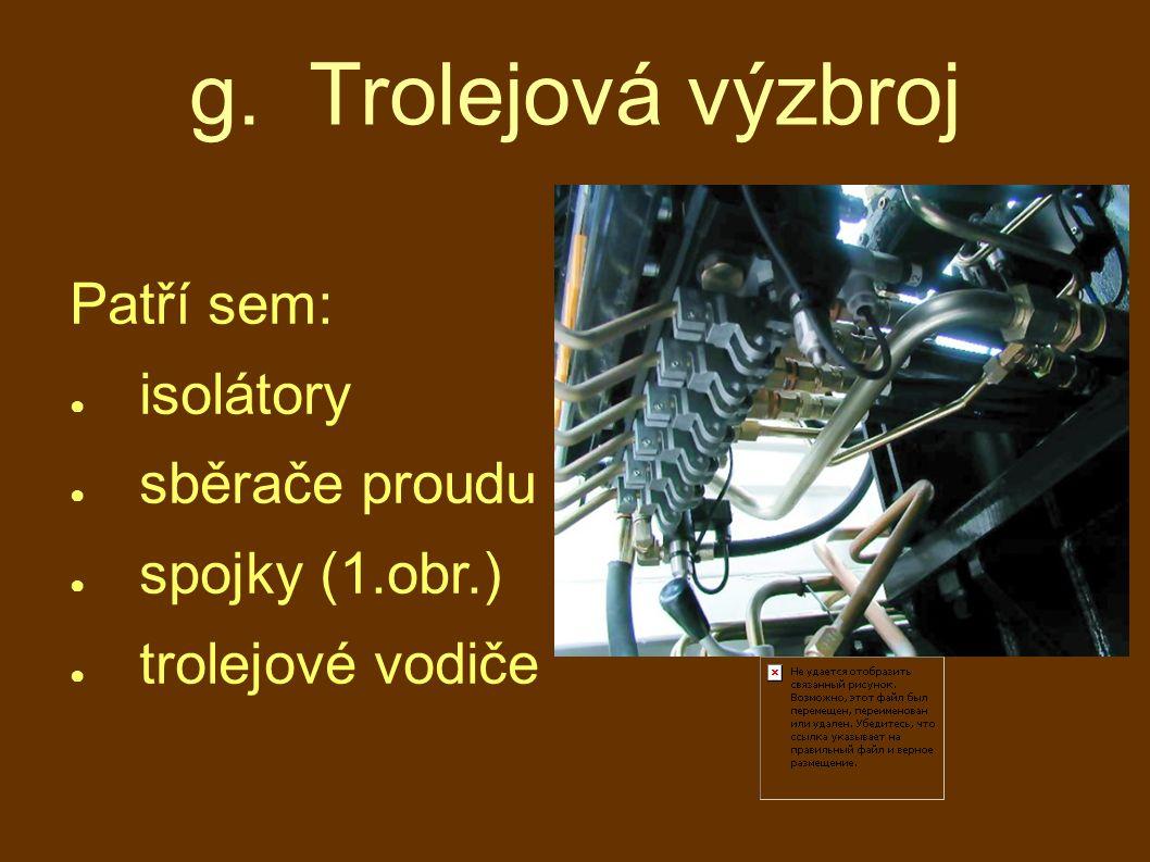 g. Trolejová výzbroj Patří sem: ● isolátory ● sběrače proudu ● spojky (1.obr.) ● trolejové vodiče