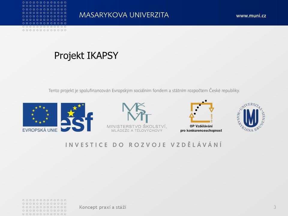 Koncept praxí a stáží3 Projekt IKAPSY