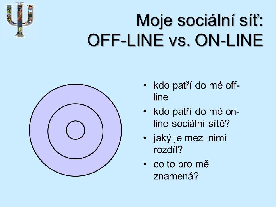 Moje sociální síť: OFF-LINE vs.