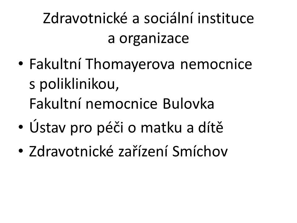 Zdravotnické a sociální instituce a organizace Fakultní Thomayerova nemocnice s poliklinikou, Fakultní nemocnice Bulovka Ústav pro péči o matku a dítě
