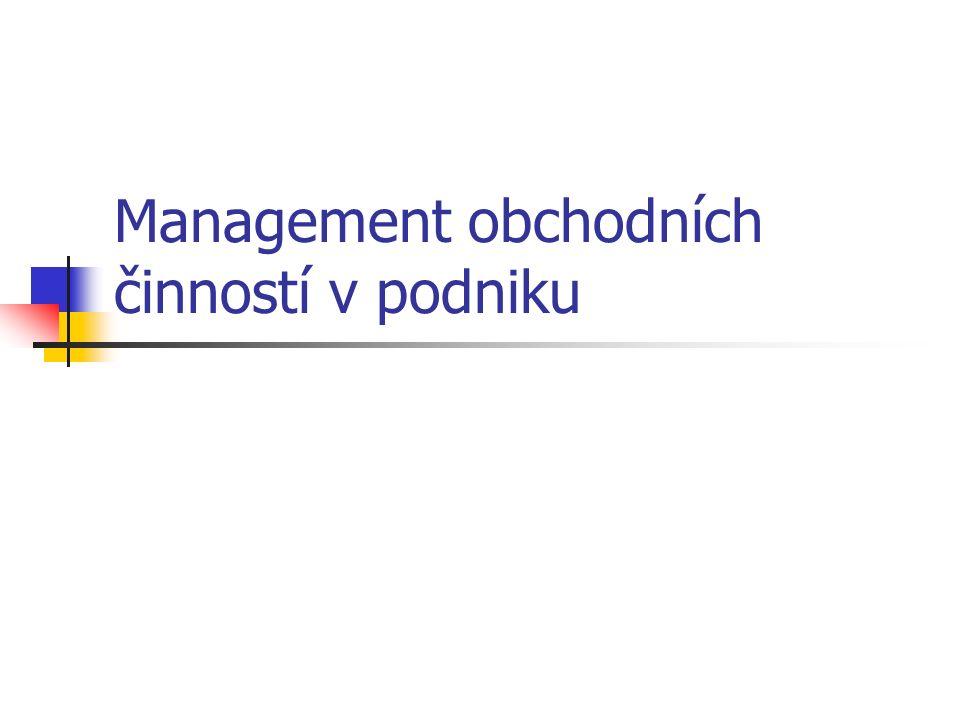 Management obchodních činností v podniku