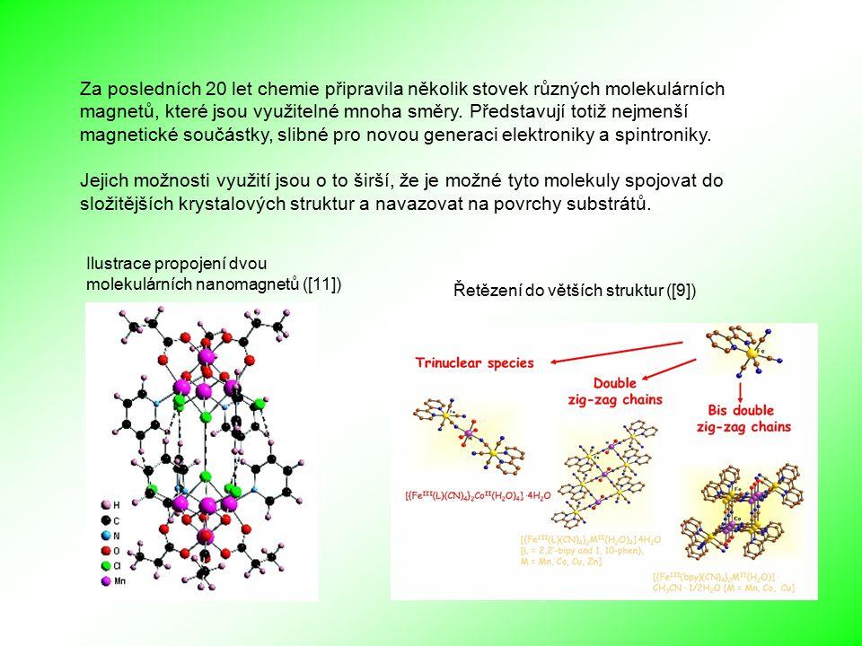Za posledních 20 let chemie připravila několik stovek různých molekulárních magnetů, které jsou využitelné mnoha směry. Představují totiž nejmenší mag