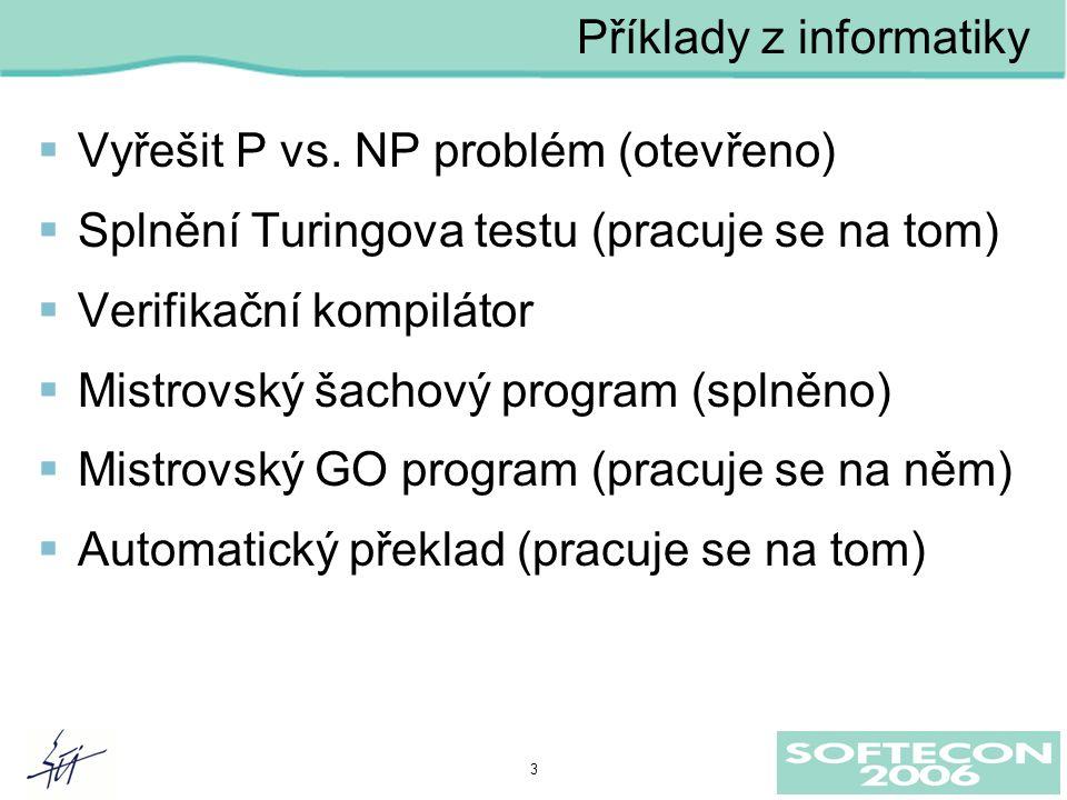 3  Vyřešit P vs.
