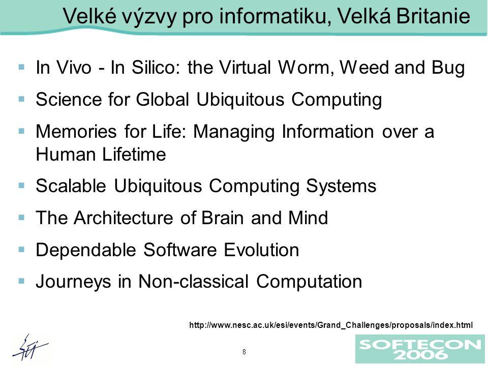 9 Ne-klasické výpočty Makroskopické výpočetní a komunikační systémy Global Ubiquitous computing Scalable ubiquitous computing Dependable System Evol.