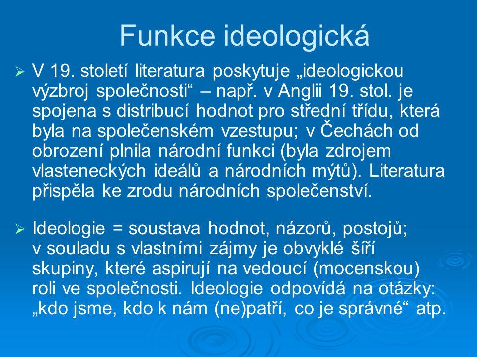 Funkce ideologická   V 19.