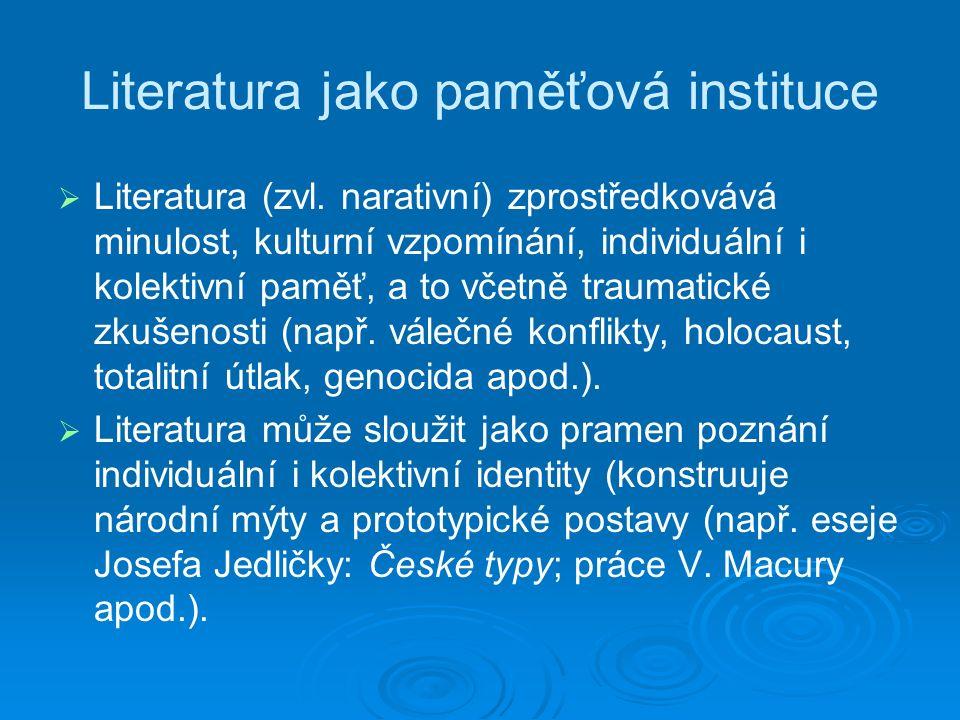 Literatura jako paměťová instituce   Literatura (zvl.