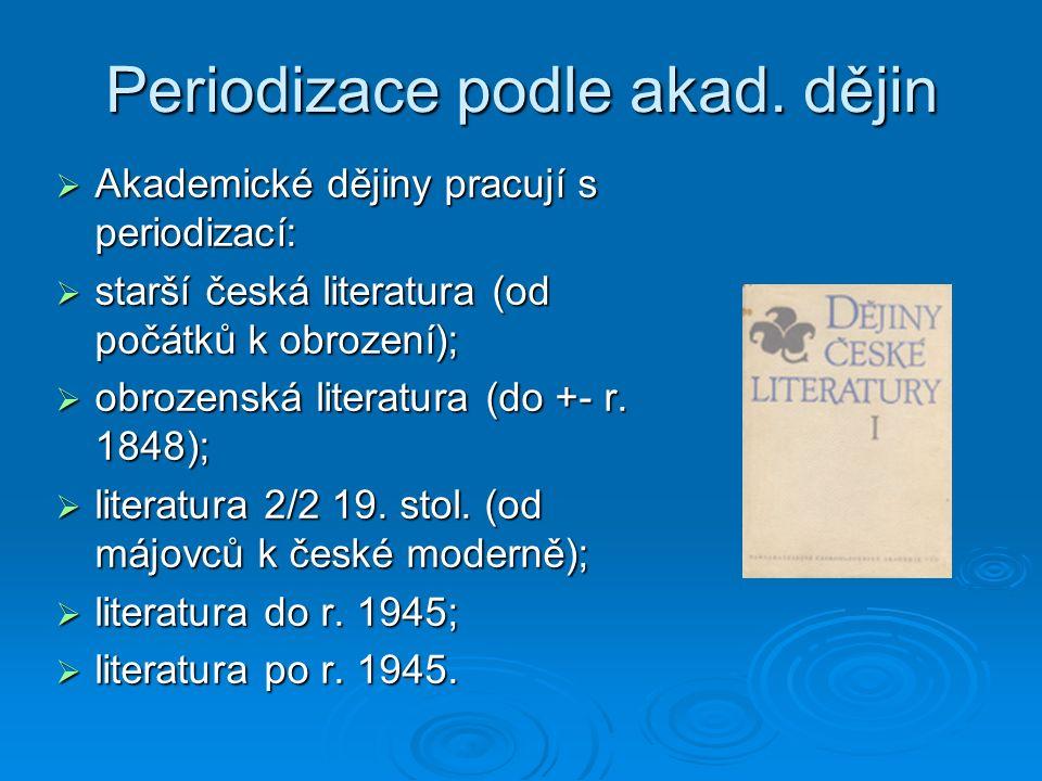 Periodizace podle akad.