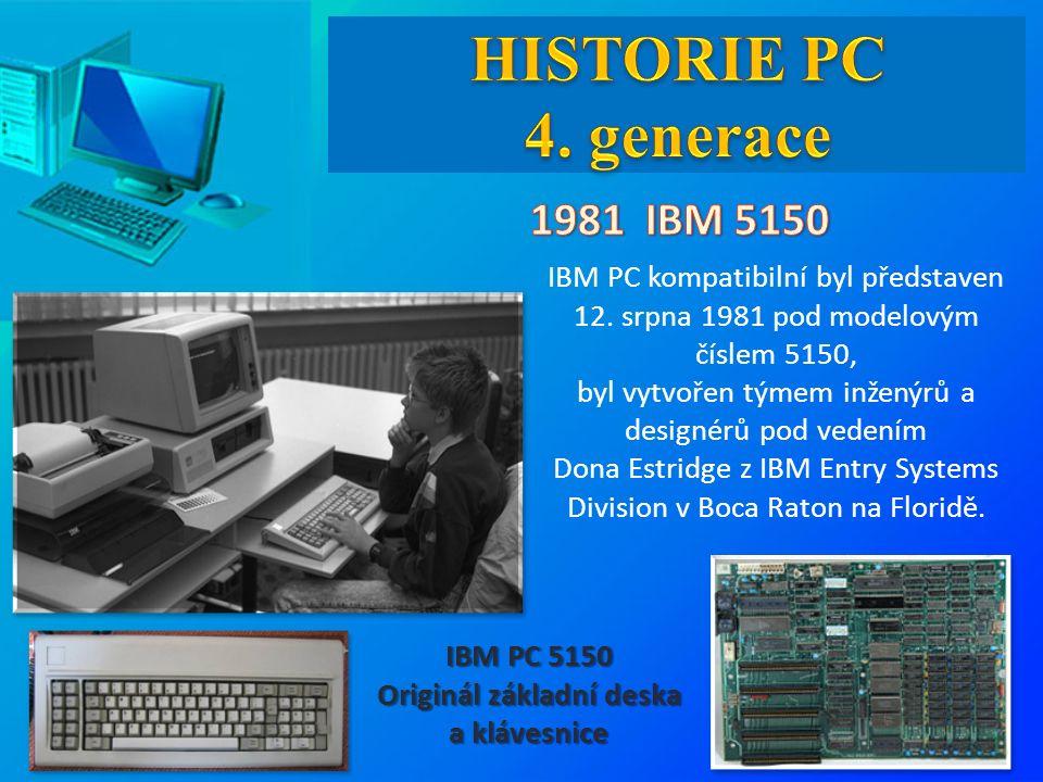 IBM PC kompatibilní byl představen 12.