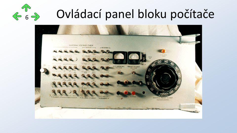 Ovládací panel bloku počítače 6