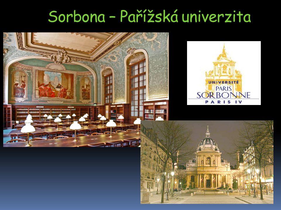 Sorbona – Pařížská univerzita