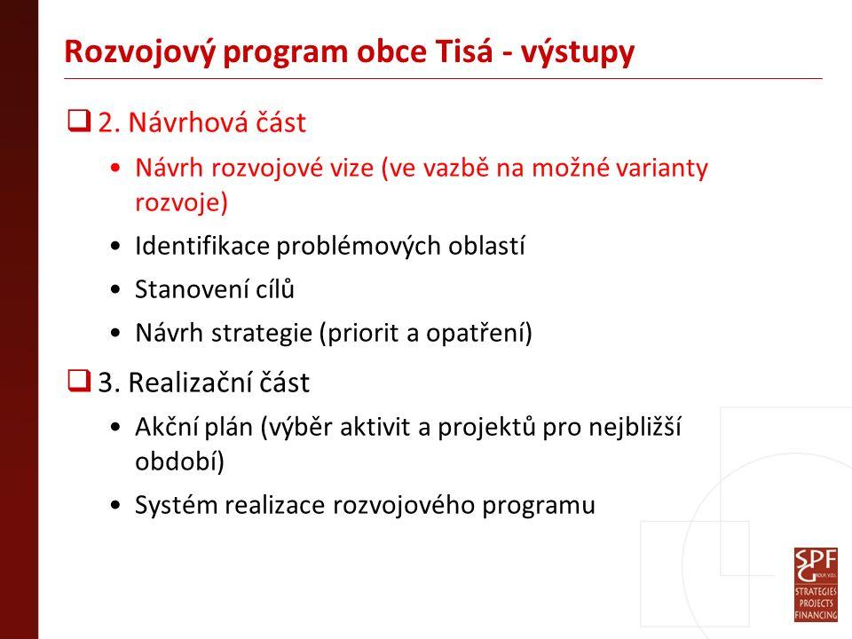 Rozvojový program obce Tisá - výstupy  2.