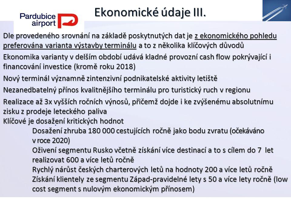 Ekonomické údaje III..