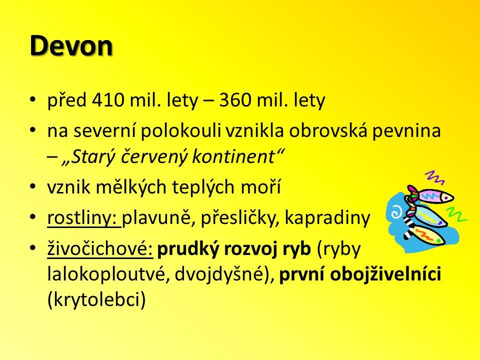Devon před 410 mil.lety – 360 mil.