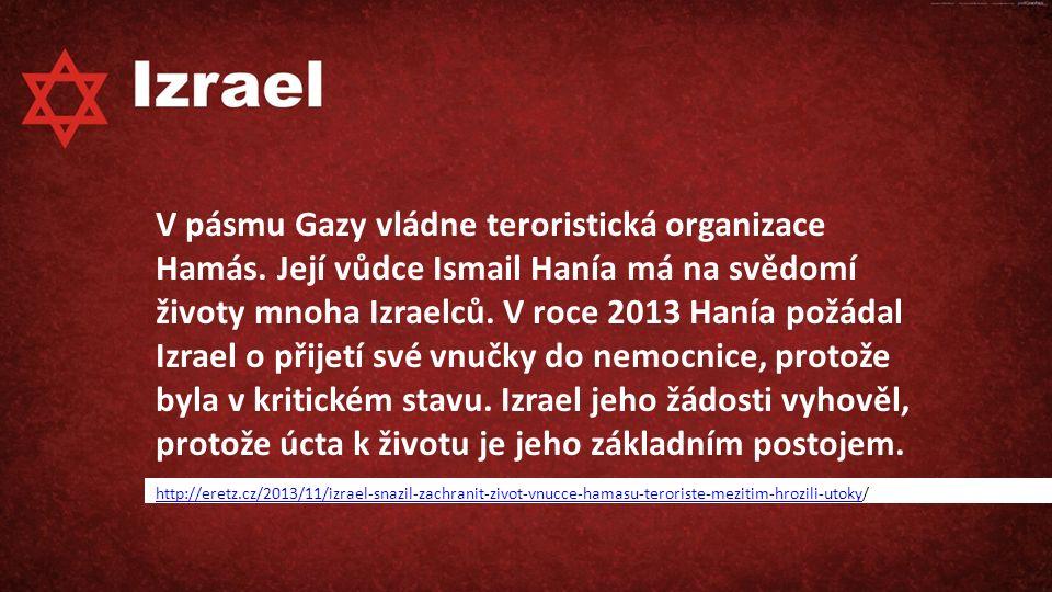 V pásmu Gazy vládne teroristická organizace Hamás.