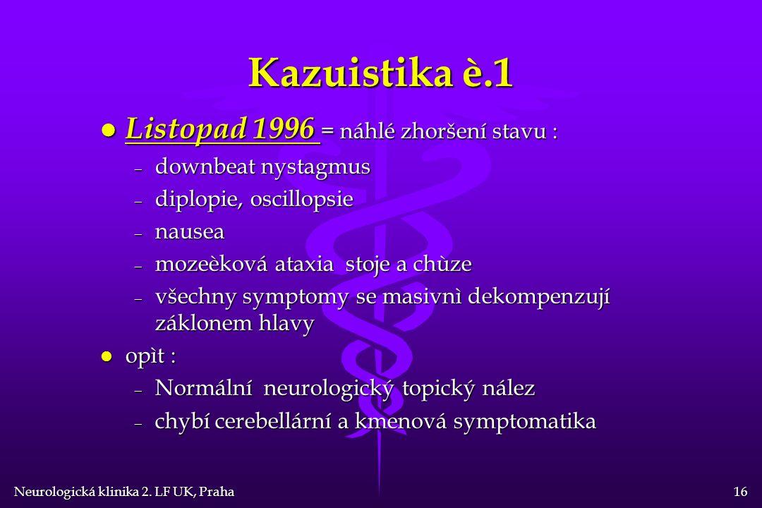 Neurologická klinika 2.