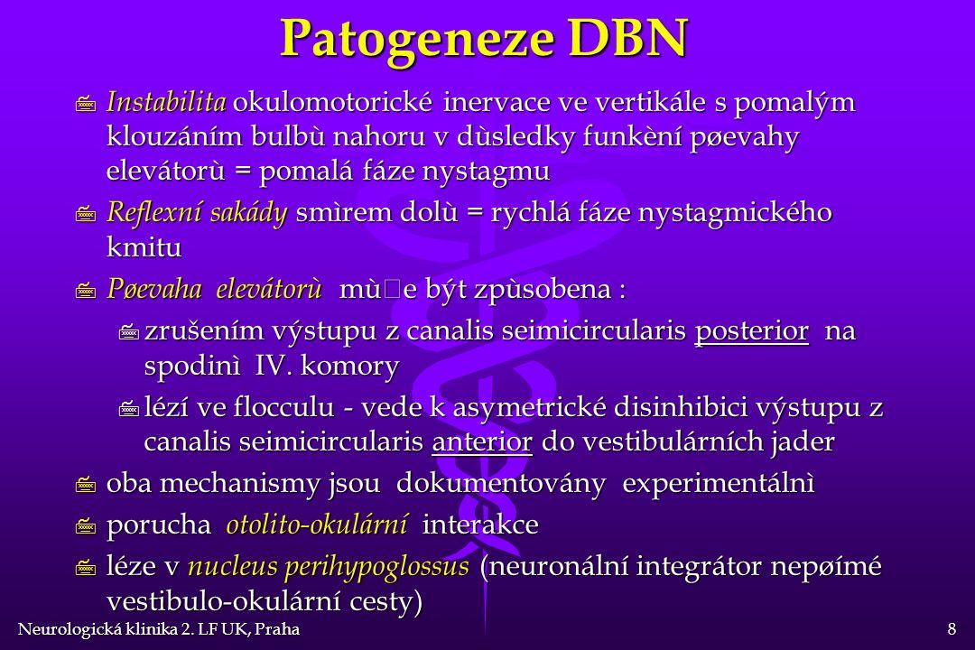 Neurologická klinika 2. LF UK, Praha 9 DBN - topika léze