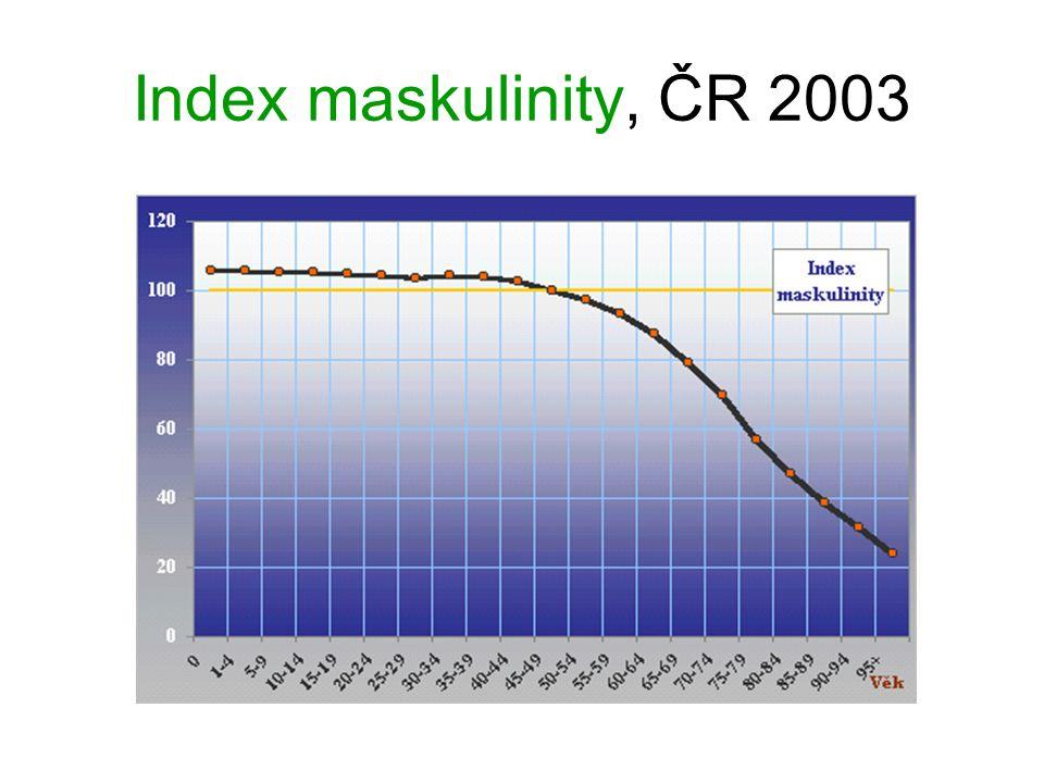 Index maskulinity, ČR 2003