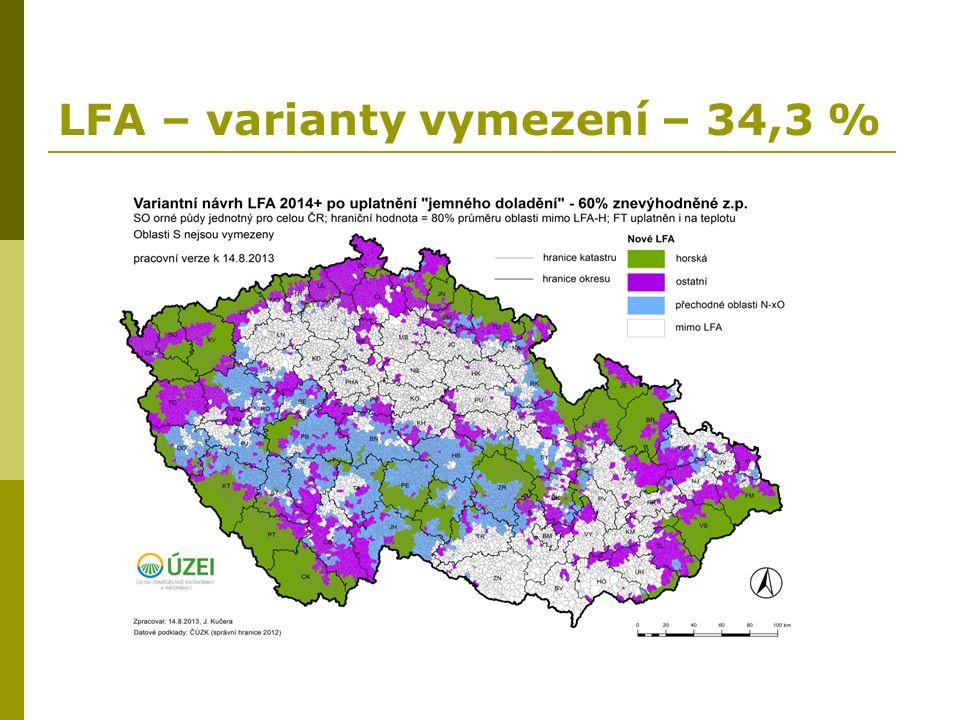 LFA – varianty vymezení – 34,3 %