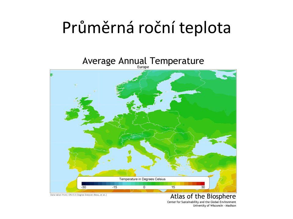 Průměrná roční teplota