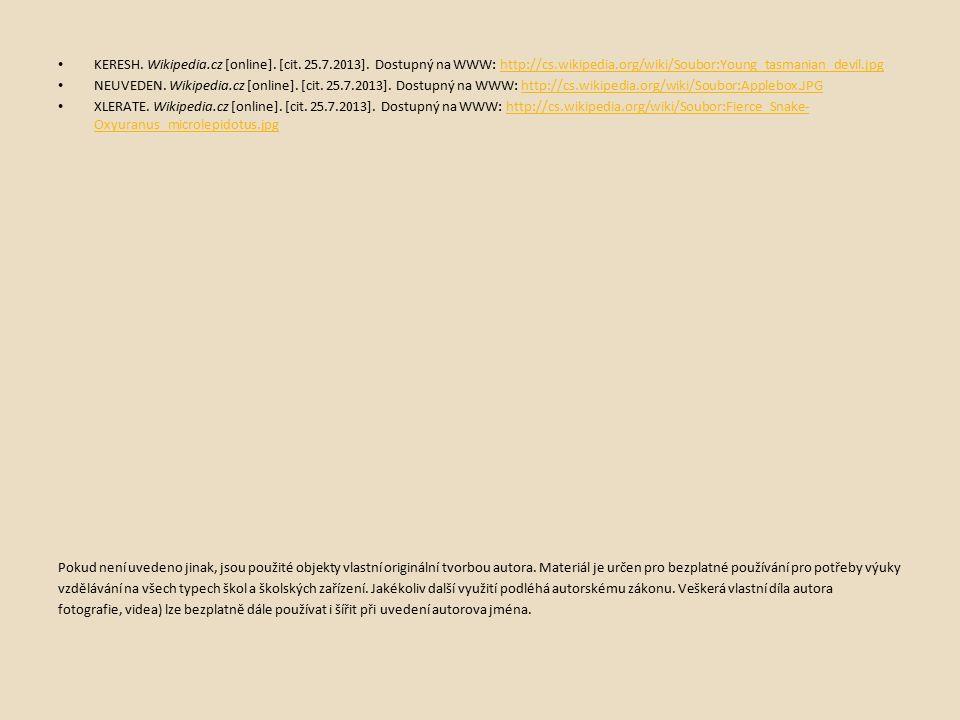 KERESH. Wikipedia.cz [online]. [cit. 25.7.2013].