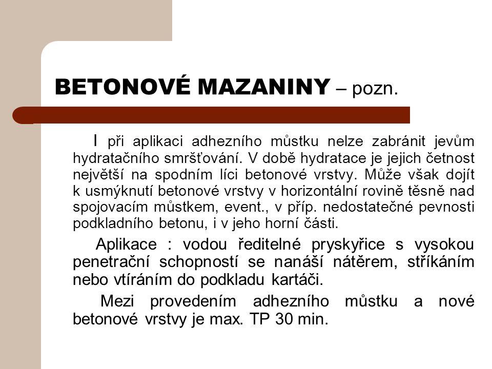 BETONOVÉ MAZANINY – pozn.