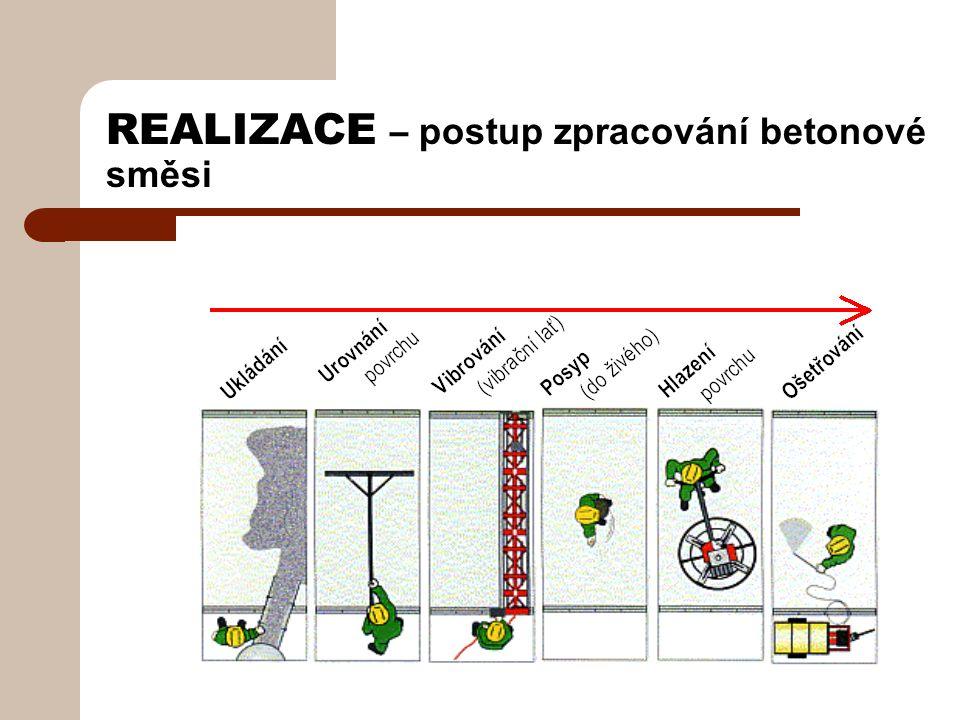 REALIZACE – postup zpracování betonové směsi