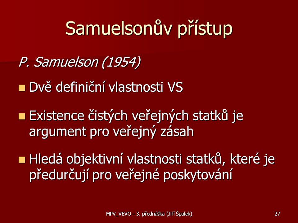 Samuelsonův přístup P.