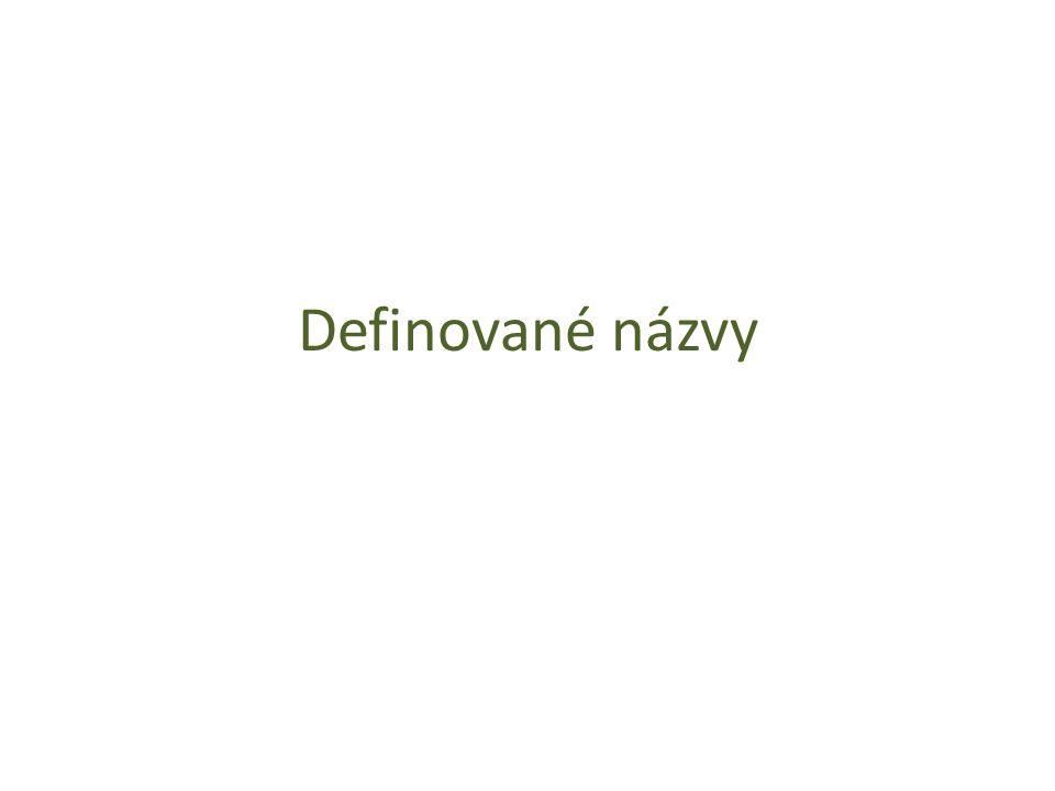 Definované názvy
