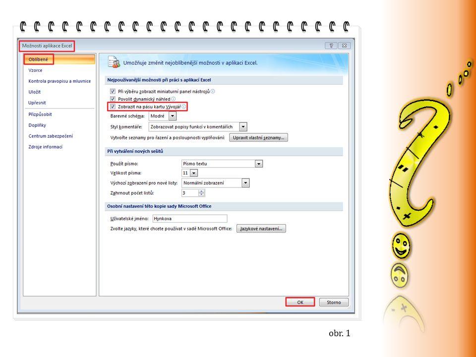 Jak vložíme prvek Číselník.tento formulář nastavujeme podobně jako předchozí (obr.