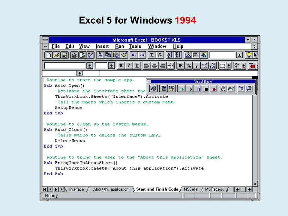 Excel 5 for Windows 1994