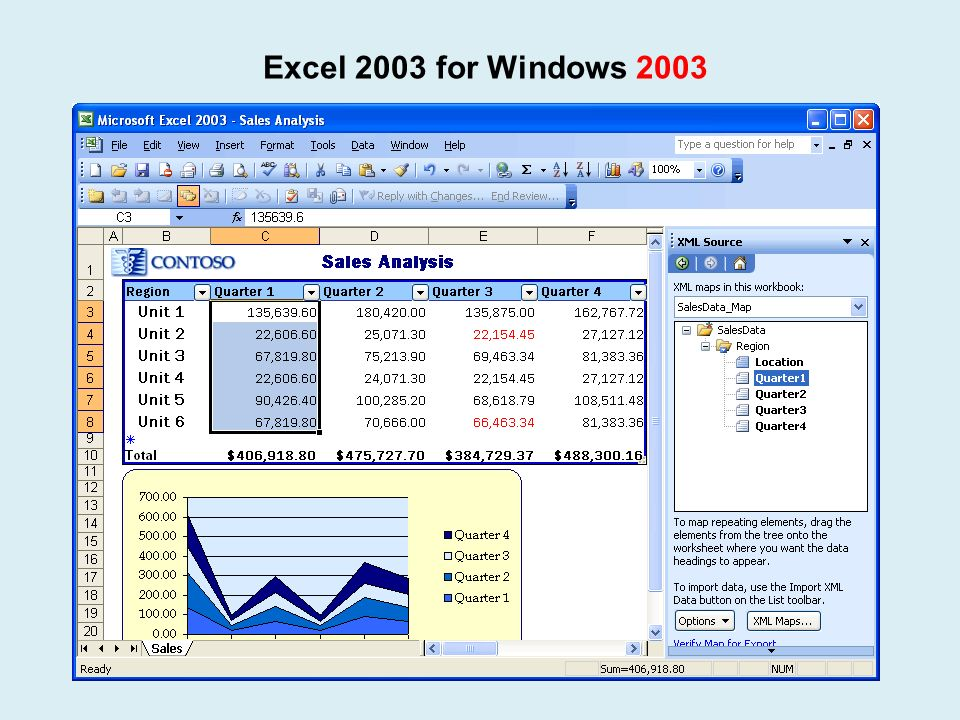 Excel 2003 for Windows 2003