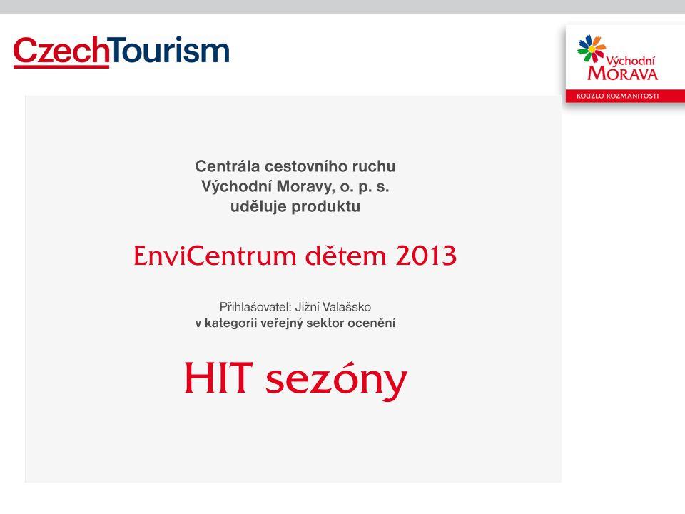 Vítězný HIT sezony EnviCentrum dětem 2013 –Produkt je balíčkem cestovního ruchu v oblasti Jižního Valašska, konkrétně pak MAS Ploština nedaleko Valašských Klobouk, –určený především skupinám s dětmi a dětským zařízením, –zahrnuje 4 noci v ubytovacím zařízení EnviCentrum, stravování, návštěvu vybraných zajímavostí a lokalit v okolí včetně služeb průvodce, atraktivní způsob přepravy mezi lokalitami a aktivní nabídku trávení volného času.