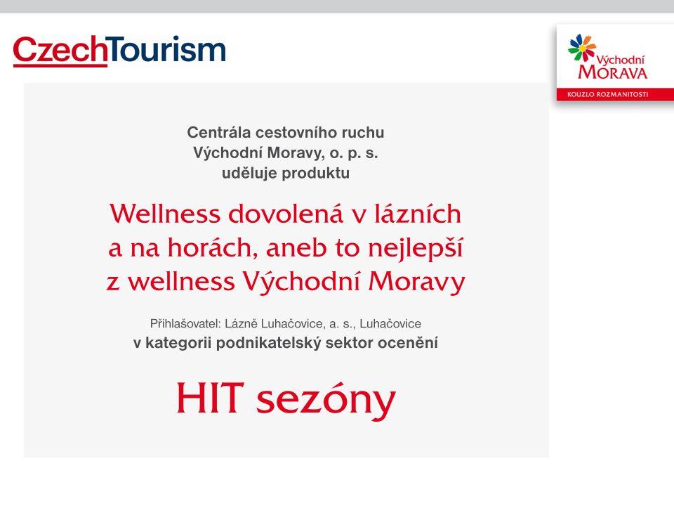 Vítězný HIT sezony Wellness dovolená v lázních a na horách aneb To nejlepší z wellness Východní Moravy –Společnosti Lázně Luhačovice a Resort Valachy společně představují wellness produkt pro náročnou klientelu.